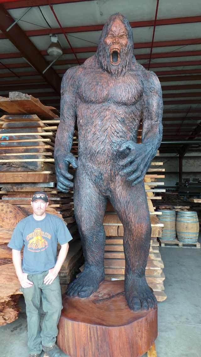 Artists Construct Fantastic Bigfoot Statue