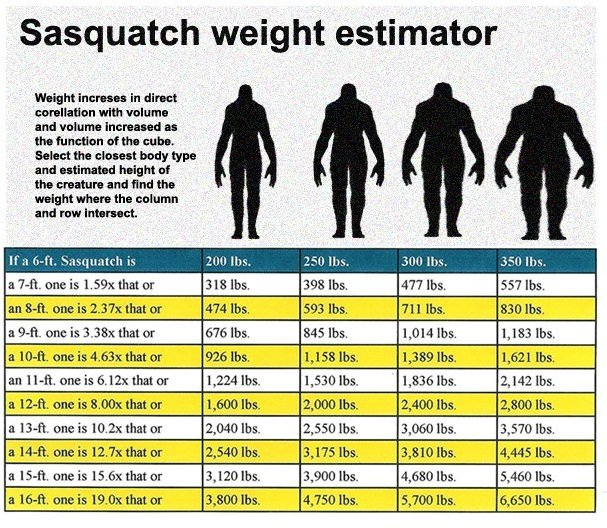 What is the biggest you believe Sasquatches can get? (They get bigger than you think)